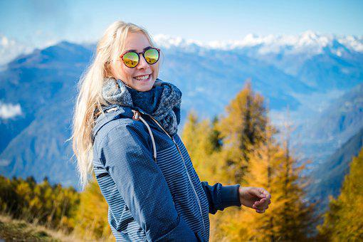 Woman, Fashion, Hiking, Happy, Smile, Girl, Person