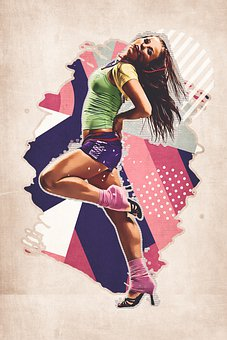 Woman, Girl, Dancing, Fitness, Fashion, Portrait, Model