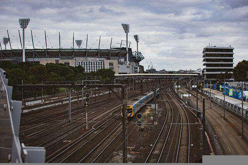 Railroad, Train, City, Urban, Rail Tracks