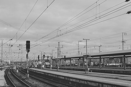 Central Station, Gleise, Railway Station, Rail Traffic
