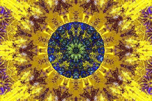 Mandala, Abstract, Sun, Solar, Pattern