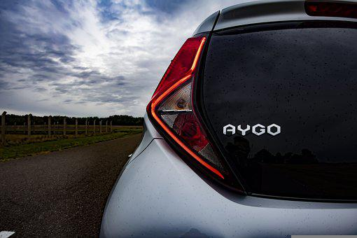 Car, Toyota, Aygo, Toyota Car, Tail Light, Car Rear