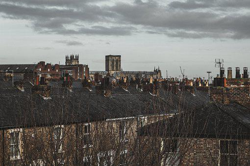 Town, Houses, Roofs, Buildings, Chimneys, Roof Tiles