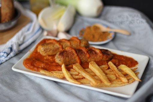 Currywurst, Curry, Vegan Sausages, Go Vegan, Eat