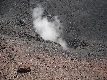 Etna, Smoke, Volcano, Volcanism, Crater, Gas