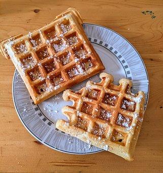 Waffles, Eat, Bake, Food, Coffee Break, Waffle