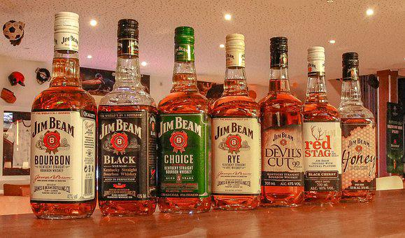 Whisky, Whiskey, Bourbon, Jim Beam, Alcohol, Collection