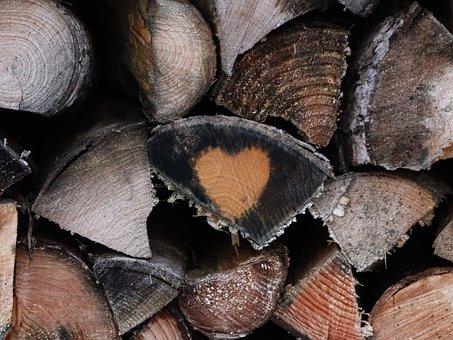 Wood Tray, Heart, Wood, Background, Background Image