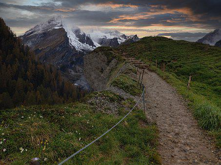 Mountains, Away, Path, Target, Recovery, Hiking