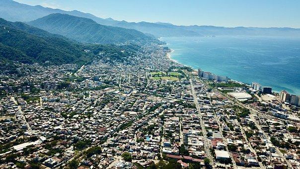 Puerto Vallarta, Azul, Ciudad, City, Urban, Village