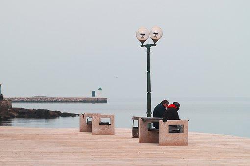 City, Mediterranean, Bank, Sea, People, Blue, Coast