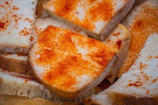 Bread With Fat, Bread, Pig Fat, Fat, Food, Sandwich