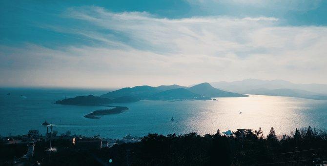China, Dalian, Lvshun, Winter, Seaside, City