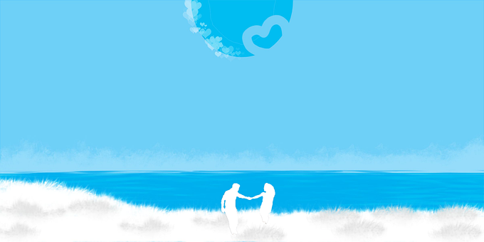 Romantic, Blue, Relationship, Couple, Love, Romance