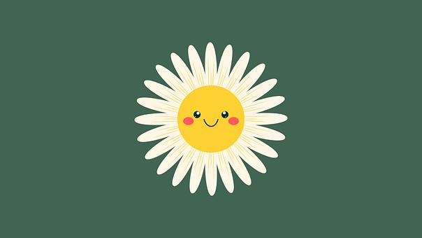Daisy, Flower, Smiley, Smile, Happy