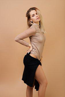 Girl, Model, Portrait, Fashion, Style, Outfit, Bodysuit