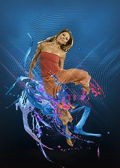 Woman, Dancing, Jumping, Girl, Female, Dancer