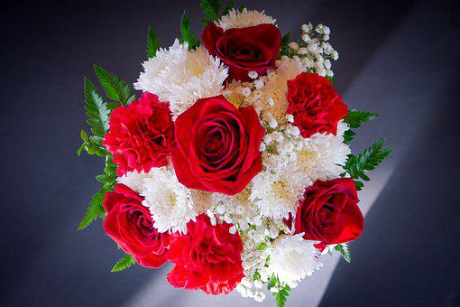 Flowers, Bouquet, Floral, Roses, Romantic, Wedding