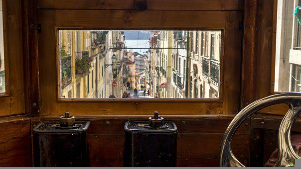 Glimpse, Tram, Lissabon, Window