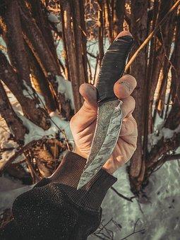 Knife, Rusty, Hand, Weapon, Blade, Sharp