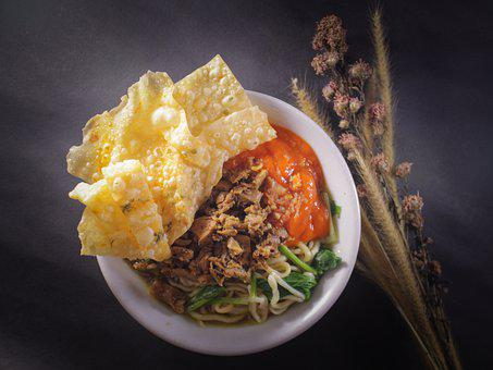 Chicken Noodles, Noodles, Indonesia, Indonesian Food