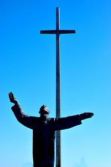 Cross, Outdoors, Priest, Christian, Jesus, Church