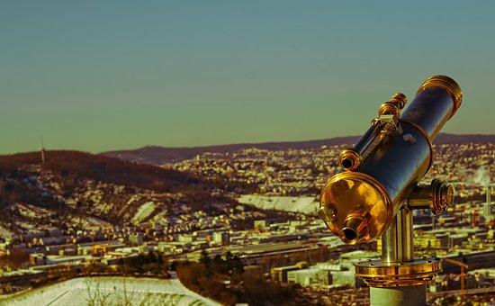 Telescope, Metal, View, Device, Design, Sky, Landscape