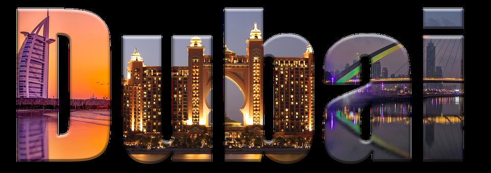 Dubai, Typography, Letters, Font, Lettering, Building