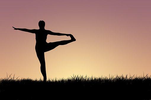 Woman, Yoga, Silhouette, Exercise, Meditation, Fitness