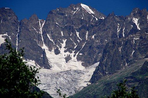 Caucasus, Georgia, Mountains, Svanetia, Mestia, Glacier