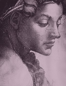 Woman, Face, Michelangelo, Dot Screen, Beauty