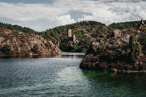 France, River, Castle, Water, Landscape, Nature, Europe