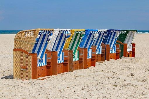 Amrum, Beach Chair, Island, Beach, Nordfriesland
