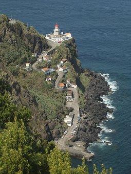 Azores, Sao Miguel, Sea, Lighthouse, Water, Ocean