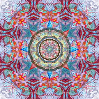 Mandala, Psychedelic, Pattern, Geometric, Spiritual