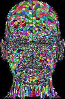 Man, Head, Low Poly, Geometric, 3d, Polygons, Triangles