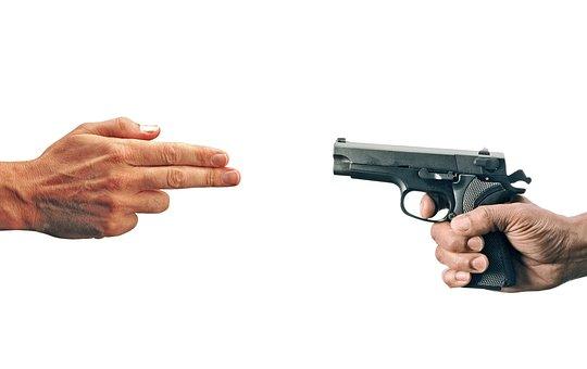 Pretend, Shooting, Gun, Fingers, Hand, Weapon, Shoot