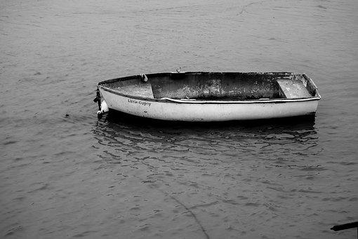 Boat, Water, Sea, Ocean, Calm, Reflection, Mood, Moody