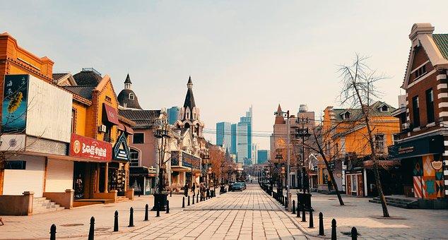 Dalian, Russian Street, Buildings, Street, Architecture