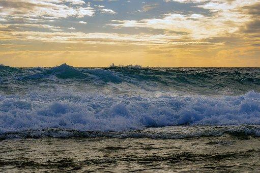 Waves, Sea, Coast, Splash, Beach, Ocean, Water, Scenery