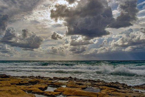 Beach, Coast, Shore, Scenery, Sea, Nature, Sky, Clouds