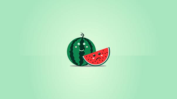 Watermelon, Smiley, Emoji, Face, Happy, Emoticon, Smile
