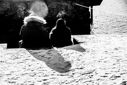 People, Sunlight, Shadow, Smoke, Girls, Water, Dodge