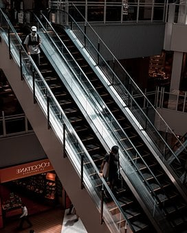 Escalator, Stairs, Staircase, People, Mall, Technology