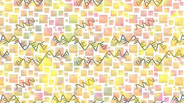 Squares, Lines, Tiles, Zigzag, Wave, Colorful