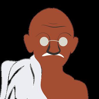 Ghandi, Transparent, Peace, Religion, Figure, Religious