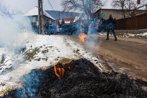 Winter End, Carnival, Tradition, Transylvania, Romania