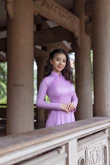 Woman, Ao Dai, Fashion, Dress
