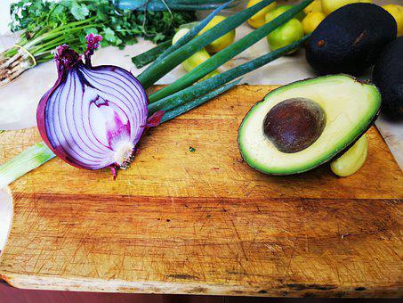 Vegetables, Onion, Avocado