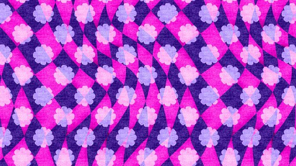 Floral, Rhomboid, Background, Pattern, Flowers, Magical